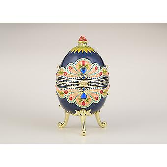 Modré farebné ruské vajcia čačky Box