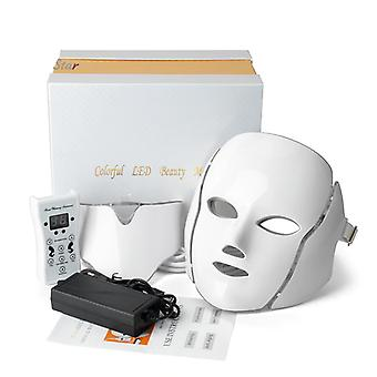Led Facial Neck Mask With Ems Microelectronics For Wrinkle And Acne Removal
