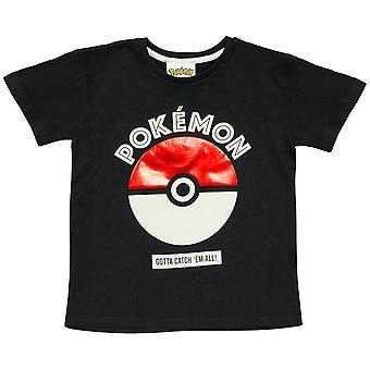 Officiële Kids Pokemon Poke Ball Gotta Catch Em Alle T-Shirt Jongens Meisjes Pokeball
