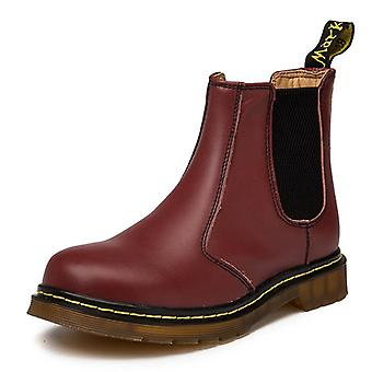 Genuine Leather Ankle Chelsea Boots Men, Spring & Autumn Work Shoes, Casual