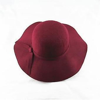 Girl Hats, Fedora Polyester, Felt Crushable, Wide Brim Cloche Floppy Sun Beach