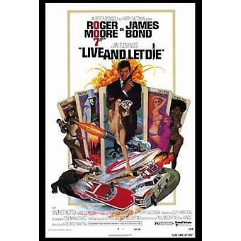 Leben und Film-Plakat-Druck (27 x 40) sterben lassen