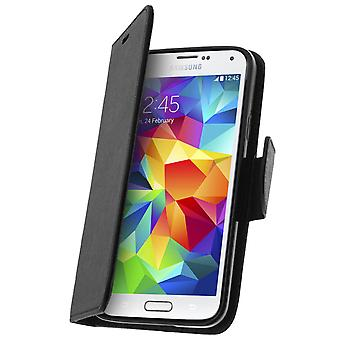 Fancy style cover, wallet case with stand for Samsung Galaxy S5, S5 New – Black