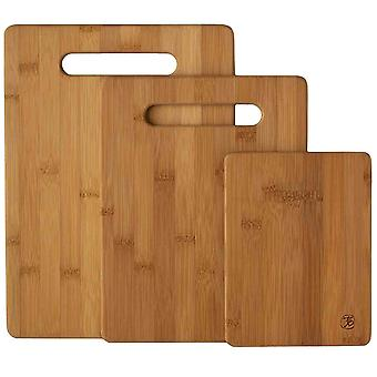 3x Bamboo Cutting Board / Set Of 3 - 3 Pieces 100% Natural Bamboo - Durable And Stylish Chopping Boards