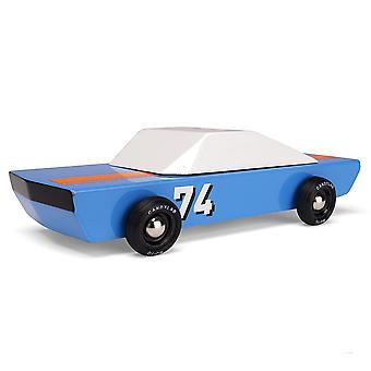 Candylab - blu 74 racer wood toy car