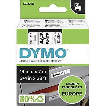 Etikettering tape DYMO D1 45803 Tape kleur: wit lettertype kleur: zwart 19 mm 7 m