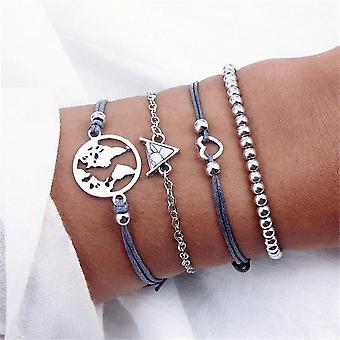 Bohemian Tassel Round Bracelet Set