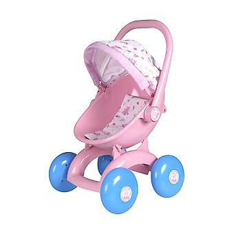 Hti toys peppa pig 4-in-1 my first pram | childrens baby doll pram toy great for girls & boys aged 3