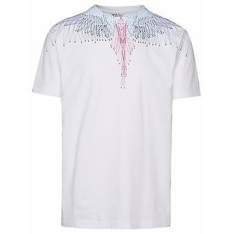 Marcelo Burlon Cmaa018r21jer0040145 Men's White Cotton T-shirt