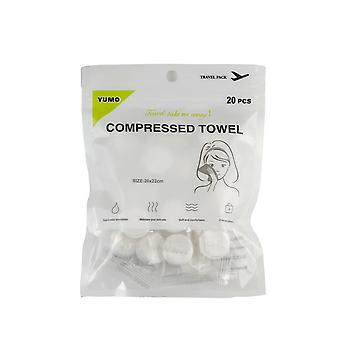 20 skompresowanych ręczników do podróży lub w podróży