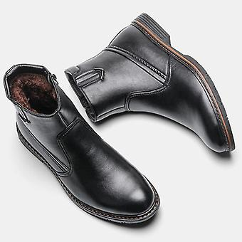 Leather Winter Snow Boots & Handmade Warm Boots