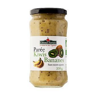 Sugar-free banana kiwi puree 350 g