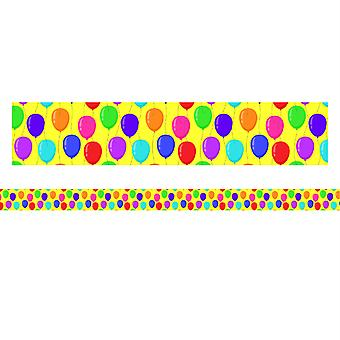 "Borders/Trims, Magnetic, Rectangle Cut - 1-1/2"" X 24"", Balloon Theme, 12/Bag"