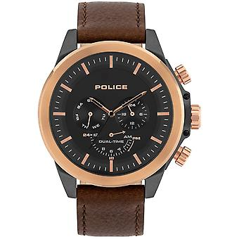 Police Pl.15970jsur/02 Belmont Rose Gold & Brown Leather Mens Watch