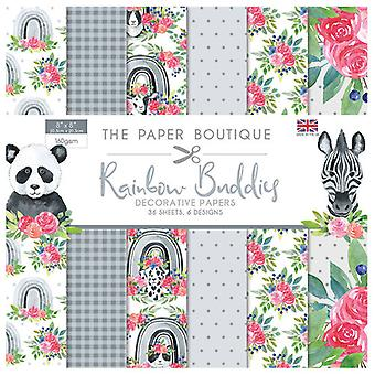 The Paper Boutique - Rainbow Buddies Collection - 8x8 Paper Pad