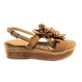 Shoes Women's Apepazza Sandalo Zeppa Mod. Bea Tc 45 Pl 35 Suede Leather/ Rope Ds18ap19
