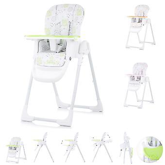 Chipolino, chaise haute sweety, siège réglable, pliable, ceinture de sécurité