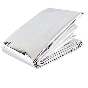 Blue Dot Emergency Thermal Silver Foil Survival Sports Blanket - Full Adult Size - 2m x 1.4m