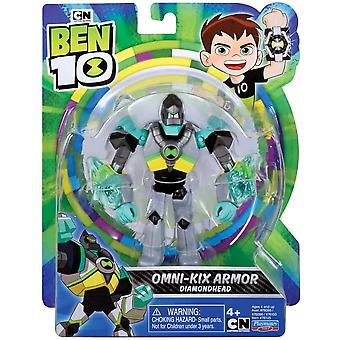 ben 10 action figure - diamondhead armor for ages 4+