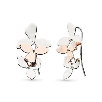 Kit Heath Blossom Petal Bloom Trio Rhodium Rose Gold Drop Boucles d'oreilles 60271RRP028