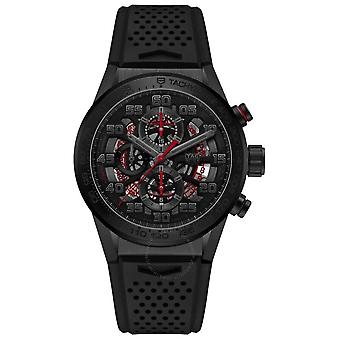 Tag Heuer Carrera 01 Chronograph Automatic Black Dial Men's Watch CAR201E.FT6087