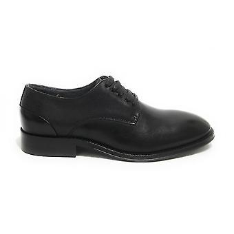 Men's Shoe Ambitious 11082 Francesina Leather Lace Black Us21am18