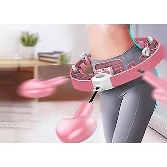 Scandinavian style automated spinning smart hula hoop exercise massager and waist trainer