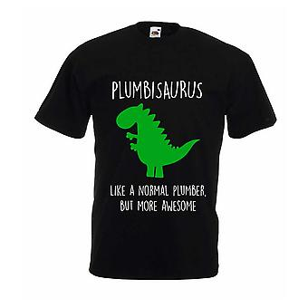 Mens Plumber Dinosaur Tshirt