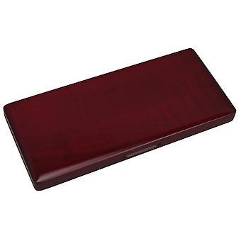 Mahogany Color Madera Clarinete Reed Caso para 10 Cañas Mantener Resistencia a la Humedad