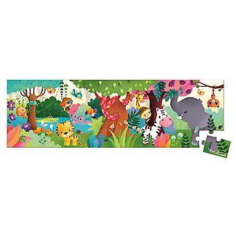 Janod Hat Boxed Panoramic Puzzle Jungle 36pcs