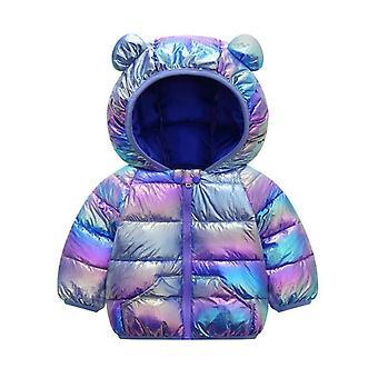 Süße Babyjacke, Winter bunte Jacke für Mantel, Kinder warm Kapuze, Oberbekleidung