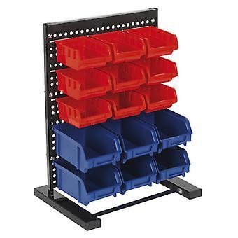 Sealey Tps1569 Bin Storage System Bench Mounting 15 Bins