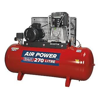 Sealey Sac52775B ضاغط 270Ltr حزام محرك 7.5Hp 3Ph 2 المرحلة