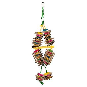 Trixie Sisal Wooden Bird Toy