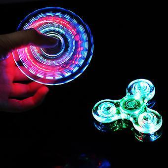 Luminous LED light Fidget Spinner Hand Top Spinners Glow in Dark Light EDC Figet Spiner Finger Stress Relief Toys