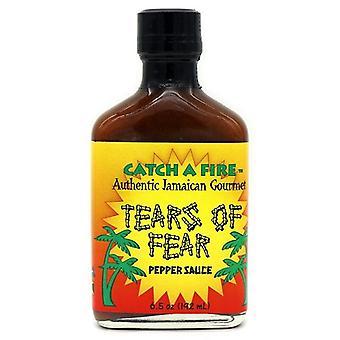 Vang een vuur tranen van angst pepersaus