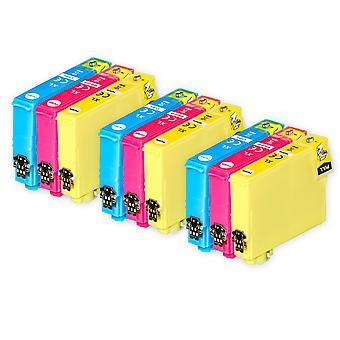 3 Juego de 3 cartuchos de tinta para reemplazar Epson 502XL C/M/Y Compatible/no-OEM de Tintas Go (9 Tintas)