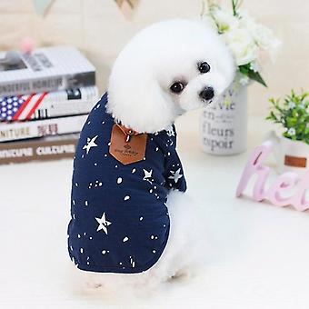 Hund Katze Kleidung Frühling Sommer Sommer Teddy Bichon Welpen Baumwolle Shirt zwei Füße Bekleidung