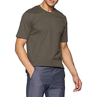 Trigema 637202 T-Shirt, Beige (Taupe-Melange 628), Medium Men