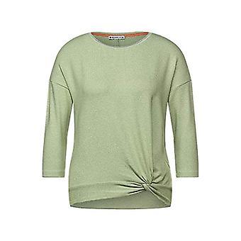 Street One 316039 T-Shirt, Faded Green Melange, 48 Woman