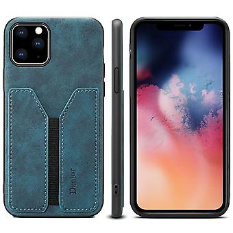 Wallet leather case card slot for iphone 12 6.7 blue on486