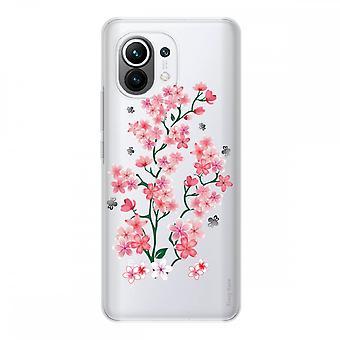 Schale für Xiaomi Mi 11 Weich Silikon 1 Mm, Sakura Blumen