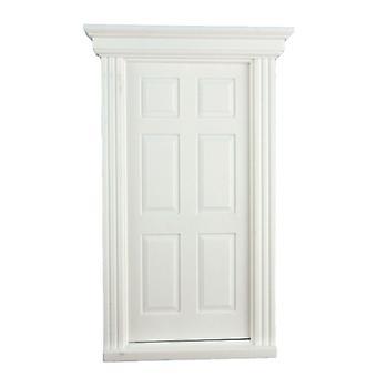 Κούκλες Σπίτι Λευκό Πλαστικό 6 Πάνελ Γεωργιανή Πόρτα 1:24 Κλίμακα Diy Οικοδόμοι