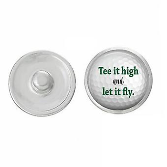 Golf - Snap Jewelry - Tee It High And Let It Fly Golf Snap Pair With