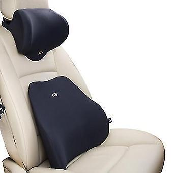 Niskatuen musta korkeatiheyksinen muistivaahto ergonominen istuimen selkänojatyyny lihaskipuun ja jännityksen lievittämiseen x4957