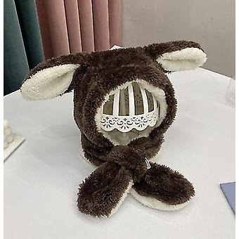 Jedna velikost káva králičí klobouk ucho pohybující se skákací klobouk legrační králíček plyšový klobouk čepice pro děti x4356
