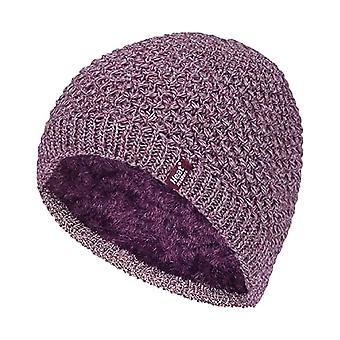 Damer sticka fleece fodrad termisk mössa hatt