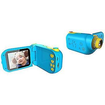 Синий мультфильм цифровая фото игра камеры, детский портативный спортивный dv видеокамера az22399