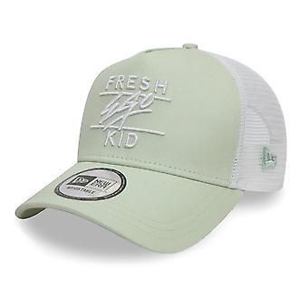 Fresh Ego Kid | Fek-594 New Era Mesh Trucker Cap - Sage/white