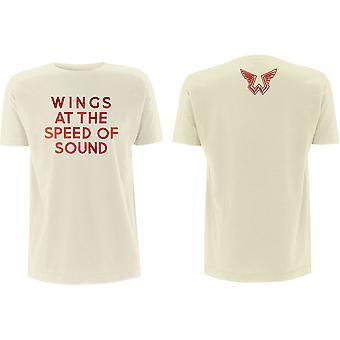 Paul McCartney - Wings at the Speed of Sound Men's Medium T-Shirt - Sand